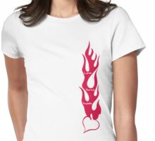 Love Burns Inside Womens Fitted T-Shirt