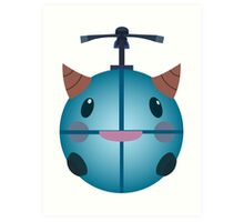 LoL - Snow Poro (with helicopter) Art Print