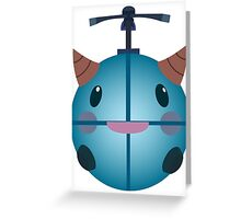 LoL - Snow Poro (with helicopter) Greeting Card