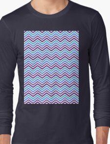 Retro Zig Zag Chevron Pattern Long Sleeve T-Shirt