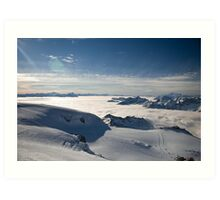 Really on top of the world 2 Art Print