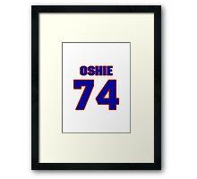 National Hockey player T.J. Oshie jersey 74 Framed Print
