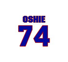 National Hockey player T.J. Oshie jersey 74 Photographic Print