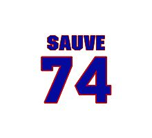 National Hockey player Max Sauve jersey 74 Photographic Print