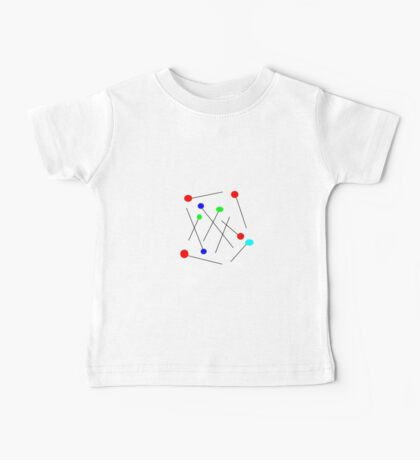 COLORFUL ABSTRACT MODERN  Baby Tee
