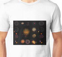 Fireworks composite Unisex T-Shirt