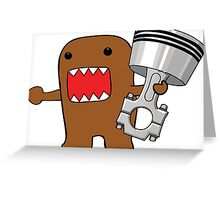 Domo with Piston Greeting Card