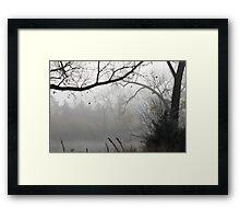 Scenes of Fall Mist Framed Print