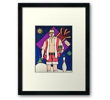 Lebowski Christmas Framed Print
