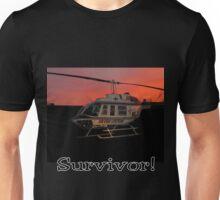 Air Evac Helicopter-Survivor Unisex T-Shirt