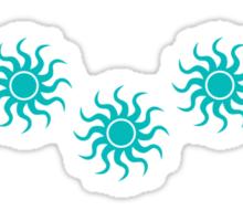 Tribal Suns Blue Sticker