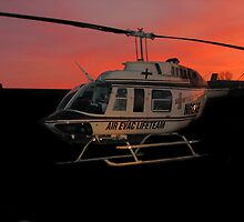 Air Evac Helicopter by Brad Sumner