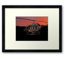 Air Evac Helicopter Framed Print