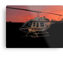 Air Evac Helicopter Metal Print