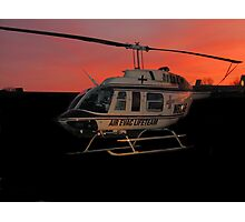 Air Evac Helicopter Photographic Print