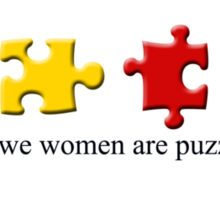 Women are Puzzling Sticker