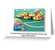 Free Kick Greeting Card