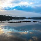 Blue mood reflections on the lake. by axieflics