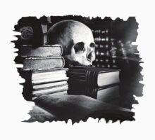 Skull and spell book design Kids Clothes
