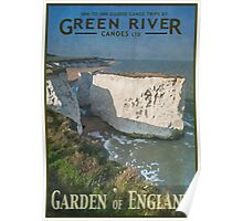 Canoeing in the Garden of England Poster