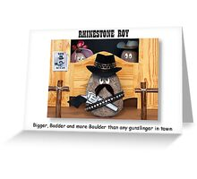 Rhinestone Roy Greeting Card