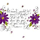 Inspirational handwritten faith verse for women by Melissa Goza