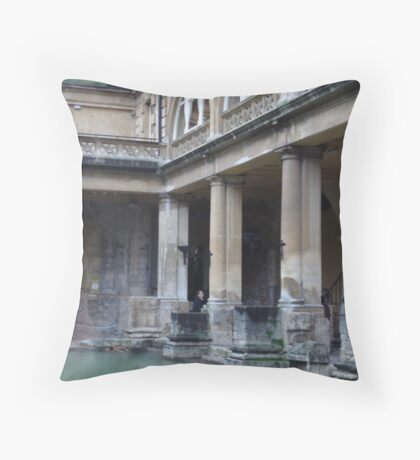 Roman Baths - Bath Throw Pillow