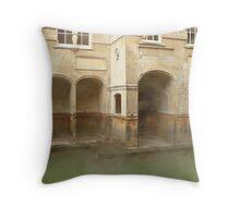 Steamy Roman Baths Throw Pillow