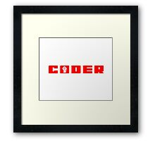 Coder in Red T-Shirt Framed Print