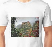 Meteora Monastery - world heritage site in Greece. Unisex T-Shirt
