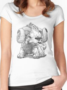 The South Highland Ram Dog Women's Fitted Scoop T-Shirt