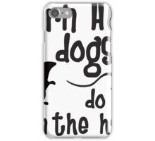 Barn Hunt dogs do it in the straw! iPhone Case/Skin