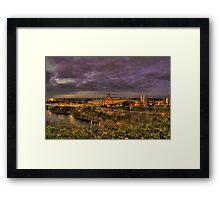 Capitol Glow Framed Print