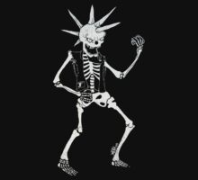 TJ's Skeleton Playing Air Guitar  by Graham Lawrence