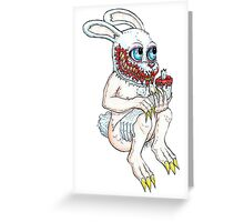 Demented Bunny Greeting Card