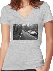 Leakin Park Women's Fitted V-Neck T-Shirt