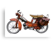 Vintage French Motobecane Moped Canvas Print