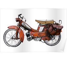 Vintage French Motobecane Moped Poster