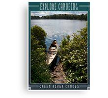 Explore by Canoe 2 Canvas Print