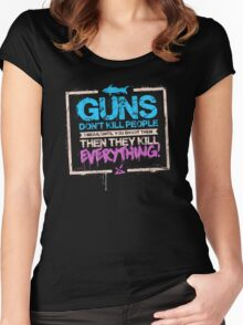 Guns Don't Kill People Women's Fitted Scoop T-Shirt
