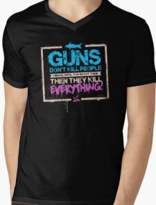 Guns Don't Kill People Mens V-Neck T-Shirt