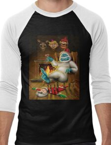 Holly Jolly Christmas Men's Baseball ¾ T-Shirt