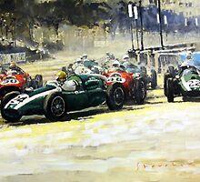 1959 Monaco GP  #24 Cooper Climax T51 Jack Brabham Winner  by Yuriy Shevchuk