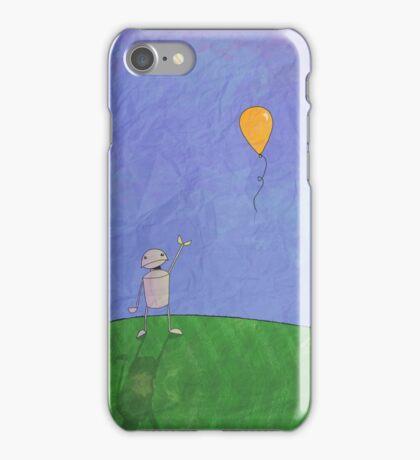 Sad Robot - The Balloon iPhone Case/Skin
