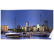 Melbourne from Victoria Harbour Poster