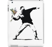 Banksy - Flower Thrower iPad Case/Skin