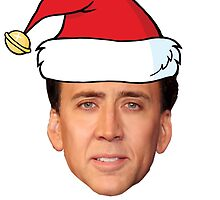 Saint Nicolas Cage Christmas Card by darthfader