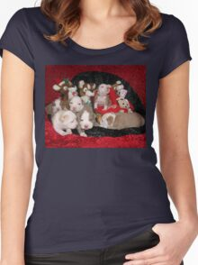 Waiting For Santa Women's Fitted Scoop T-Shirt