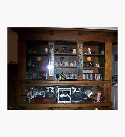 My Wooden Shelves Photographic Print