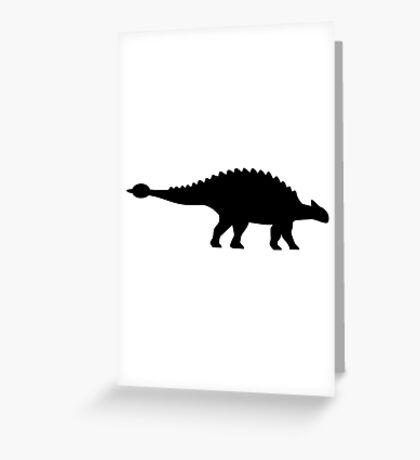 Dinosaur ankylosaurus Greeting Card